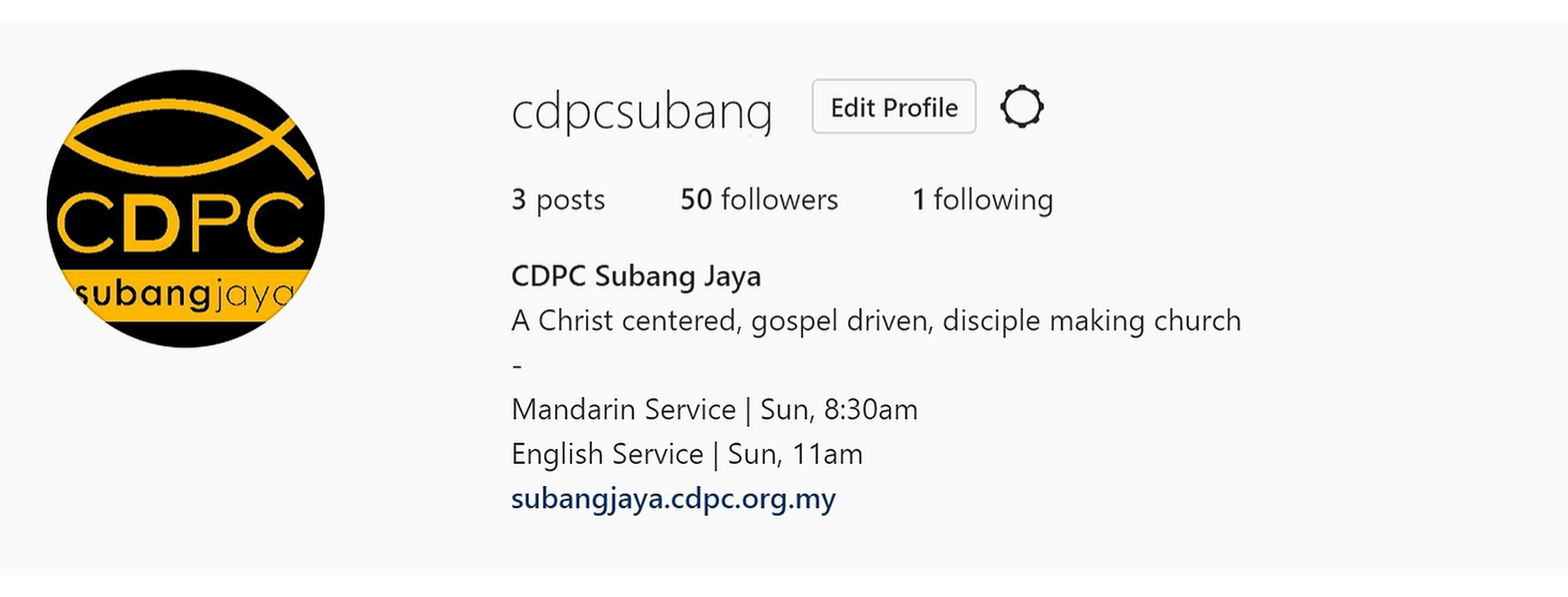 CDPC Subang is now on Instagram!